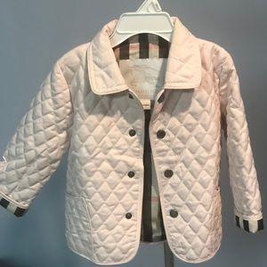 Burberry Toddler Jacket - Light Pink